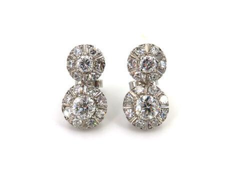 Art Deco Ohrringe mit Diamanten